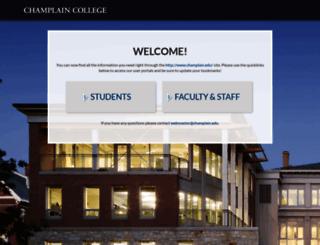 my.champlain.edu screenshot