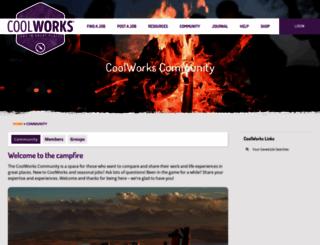 my.coolworks.com screenshot
