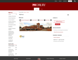 my.drury.edu screenshot