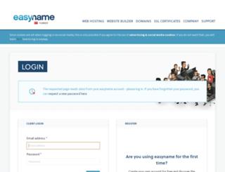 my.easyname.web.tr screenshot