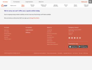 my.edfenergy.com screenshot