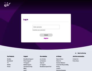 my.eircom.net screenshot
