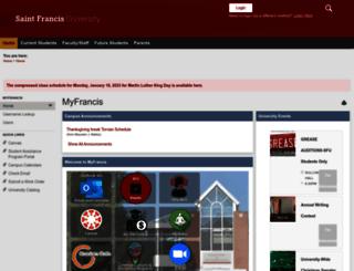 my.francis.edu screenshot