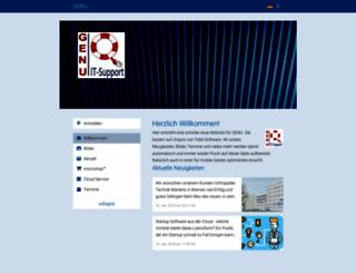 my.genu.de screenshot