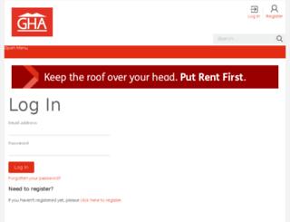 my.gha.org.uk screenshot