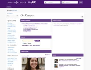 my.goshen.edu screenshot
