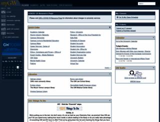 my.gwu.edu screenshot