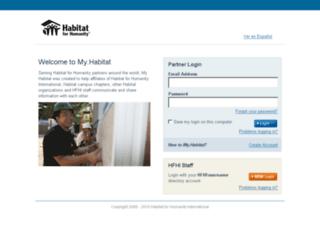 my.habitat.org screenshot