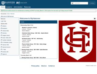 my.hanover.edu screenshot