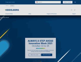 my.heidelberg.com screenshot