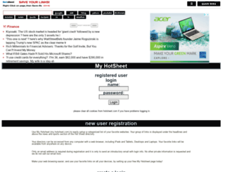 my.hotsheet.com screenshot