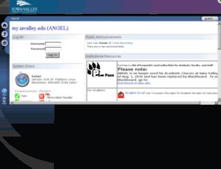 my.iavalley.edu screenshot