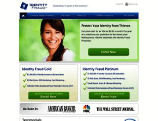 my.identityfraud.com screenshot