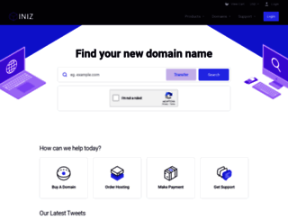 my.iniz.com screenshot