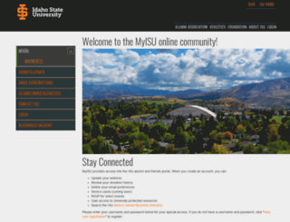 my.isu.edu screenshot