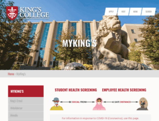 my.kings.edu screenshot