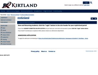 my.kirtland.edu screenshot