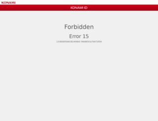 my.konami.net screenshot
