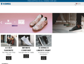 my.kswiss.com screenshot