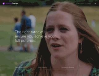 my.mathsdoctor.co.uk screenshot