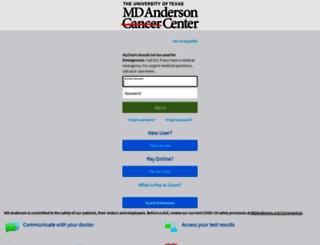 my.mdanderson.org screenshot