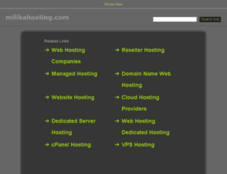 my.milikahosting.com screenshot