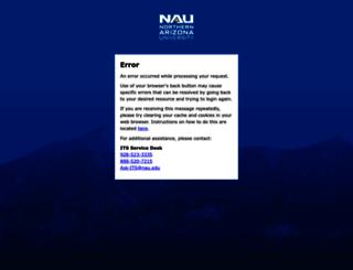 my.nau.edu screenshot