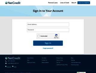 my.netcredit.com screenshot