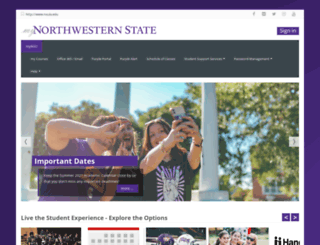my.nsula.edu screenshot