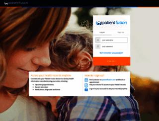 my.patientfusion.com screenshot