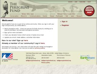 my.peregrinefund.org screenshot