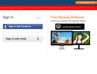 my.pogoplug.com screenshot