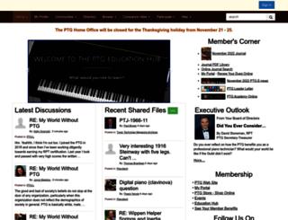 my.ptg.org screenshot