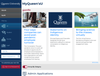 my.queensu.ca screenshot
