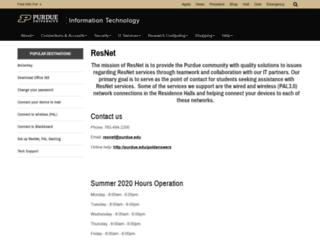 my.resnet.purdue.edu screenshot
