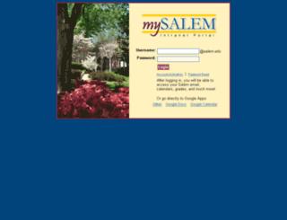 my.salem.edu screenshot