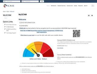 my.scnm.edu screenshot