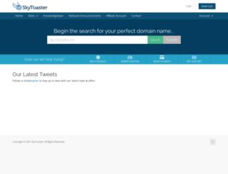 my.skytoaster.com screenshot