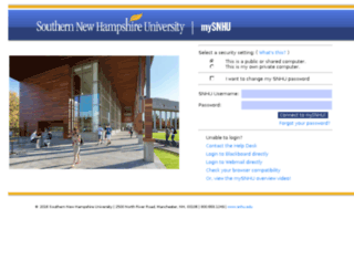 my.snhu.edu screenshot