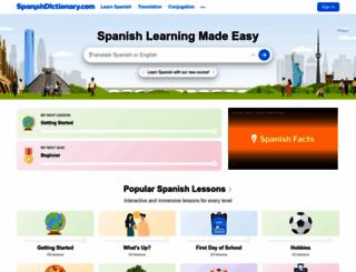 my.spanishdict.com screenshot