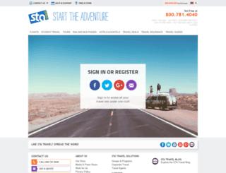 my.statravel.com screenshot