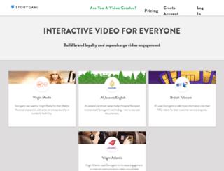 my.storygami.com screenshot