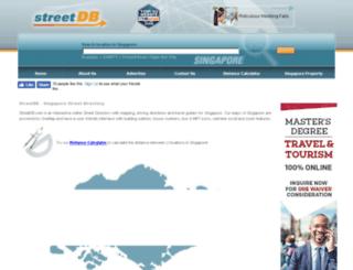 my.streetdb.com screenshot
