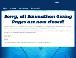 my.swimathon.org screenshot