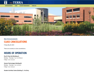 my.terra.edu screenshot