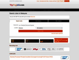 my.tiptopjob.com screenshot