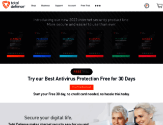 my.totaldefense.com screenshot