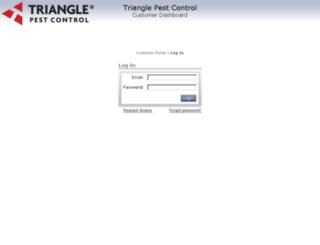 my.trianglepest.com screenshot
