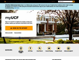 my.ucf.edu screenshot