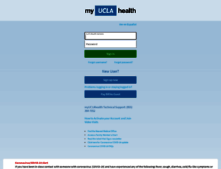 my.uclahealth.org screenshot